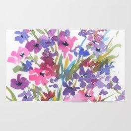 Lavender Mini Fleurs Rug