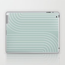 Minimal Line Curvature - Sage Laptop & iPad Skin
