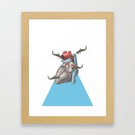 Shark at Heart Framed Art Print