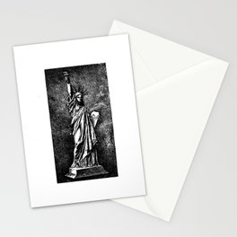 Statue of Liberty Patent Drawing Stationery Cards