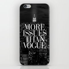 More Issues Than Vogue Black and White NYC Manhattan Skyline iPhone & iPod Skin