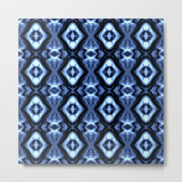 Bright Bue Diamond Pattern Metal Print