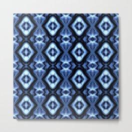 Bright Bue Diamond Pattern Metal Print