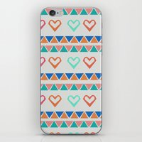 knit iPhone & iPod Skins featuring Heart Knit  by minniemorrisart