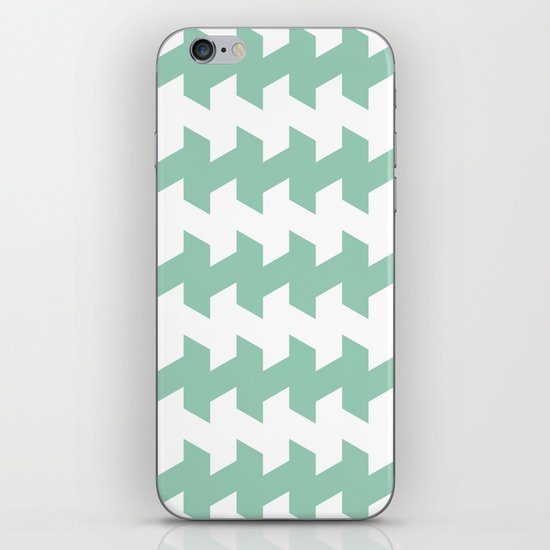 jaggered and staggered in grayed jade iPhone & iPod Skin