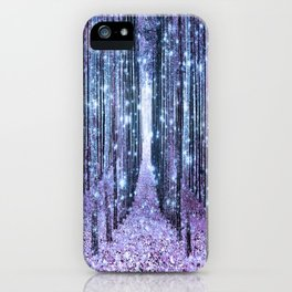 Magical Forest Lavender Ice Blue Periwinkle iPhone Case