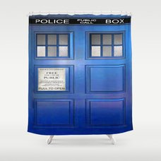 Doctor Who Public Box Shower Curtain By Rzuanshahwal Society6