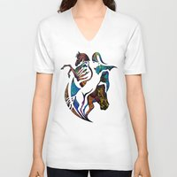 horses V-neck T-shirts featuring Horses by A Laidig