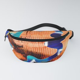 Leaf on yellow Fanny Pack