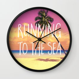 Running to the Sea Wall Clock