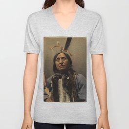 Left Hand Bear, Oglala Sioux chief Unisex V-Neck