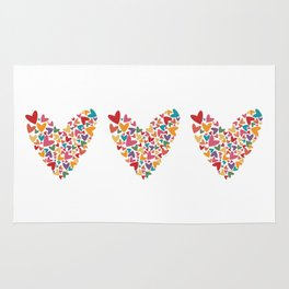 Colorful Heart Rug