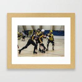 Tyne and Fear on the offense Framed Art Print