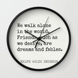 THE BEST RALPH WALDO EMERSON Quotes Wall Clock