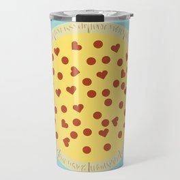 Pizza - My One True Love Travel Mug