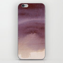 Rosy Haze abstract painting iPhone Skin