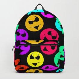 Smiley Bikini Bright Neon Smiles on Black Backpack