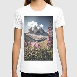 Tre Cime di Lavaredo in the Dolomites T-shirt