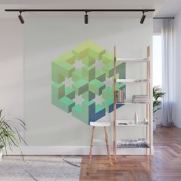 Exploded cube Wall Mural