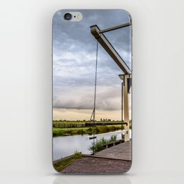 Canal and Bridge in Netherlands at Sunset iPhone Skin
