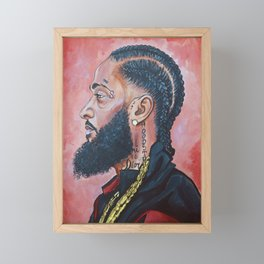 Nipsey Hussle Icon Framed Mini Art Print