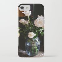 leah flores iPhone & iPod Cases featuring FLORES by Megan Robinson