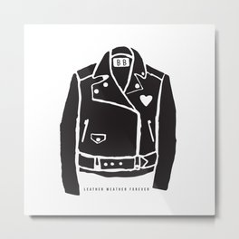 Leather Weather Forever Metal Print