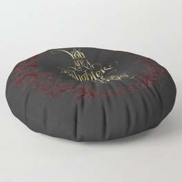 You are a daughter of words. Nevernight Floor Pillow