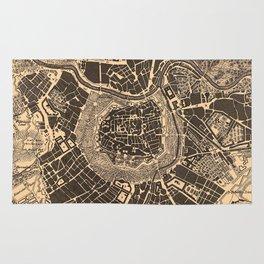 Vintage Map of Vienna Austria (1907) Rug