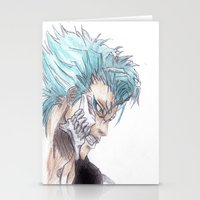 bleach Stationery Cards featuring Grimmjow Bleach  by Naomi Simone