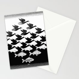 Maurits Cornelis Escher - Sky and Water 1 Stationery Cards