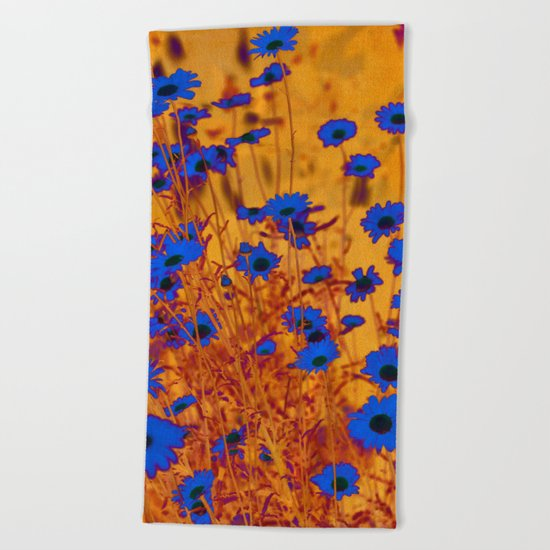 Luminous Daisies Beach Towel