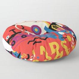 Mars space travel poster Floor Pillow