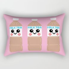 Happy Pixel Milk Tea Rectangular Pillow