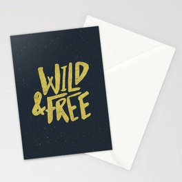 Wild and Free x Gold and Navy Stationery Cards