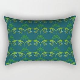 Green Wheat Floral Rectangular Pillow