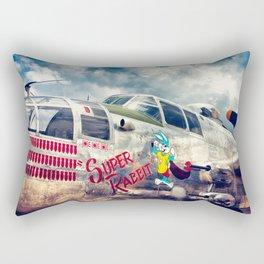 """B-25 Mitchell - The """"Super Rabbit"""" - WWII Aircraft Rectangular Pillow"""