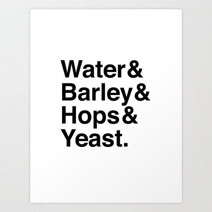 Beer Ingredients Art Print