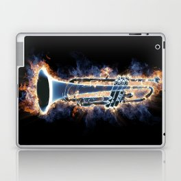 Fire trumpet in concert Laptop & iPad Skin