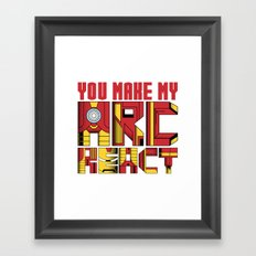 You Make My Arc React  Framed Art Print