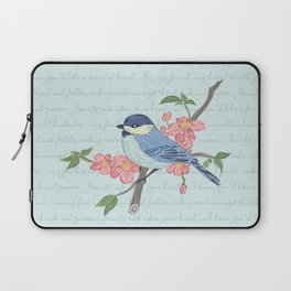 Blue Chickadee Laptop Sleeve