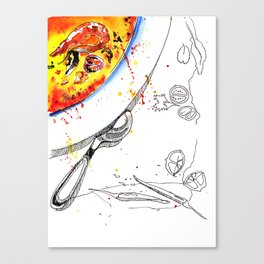 tom yam soup Canvas Print