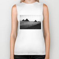 egypt Biker Tanks featuring Egypt, Pyramids by DLS Design