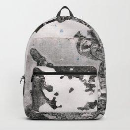 Bronx Black Waterfront Plantlife (Leaf Monotype Print Series) Backpack