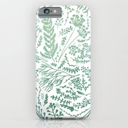 GREEN HERBS iPhone Case