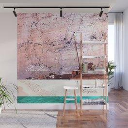 Sea-mood zakynthos, sand blue boat ship tan ocean , Christmas gift , society6 Wall Mural