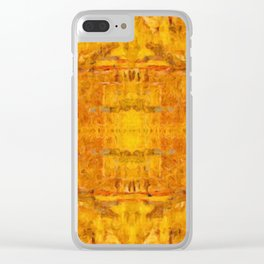 Gold Pattern no 1 Clear iPhone Case