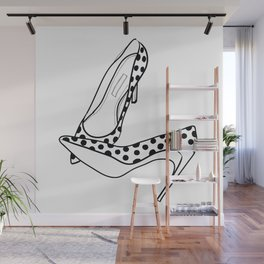 stilettos - polka Wall Mural