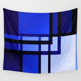 Batiment de Reflexion Bleu Wall Tapestry