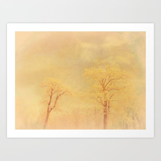 Love ~ Winter landscape Art Print